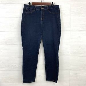 Refuge Skinny Leg Dark Indigo Blue Wash Jeans